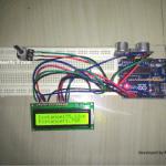 Circuito de medição de distância ultra-sônico com Arduino e LCD 16 × 2