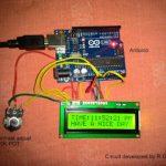 Circuito de relógio digital com Arduino e display LCD 16 × 2
