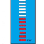 Circuito de termômetro de sala de LED com Arduino