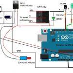 Circuito controlador de motor de bomba GSM com Arduino