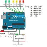 Circuito indicador de nível de bateria com Arduino