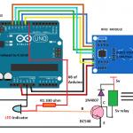 Circuito de bloqueio de segurança RFID com Arduino