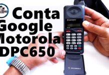 Conta Google Motorola DPC650, Procedimento completo