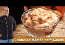 Creme de Mamão com Licor de Cassis - Chef Taico