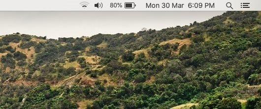 como mostrar a data na barra de menus do macos