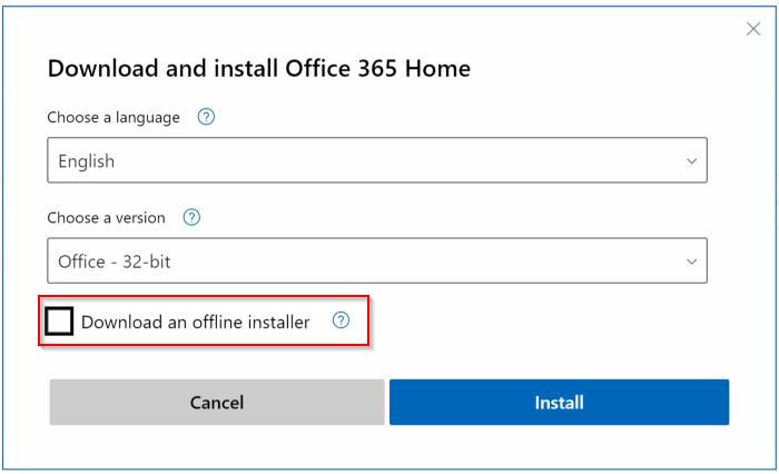 Baixe a instalação completa do Office 365 offline pic3