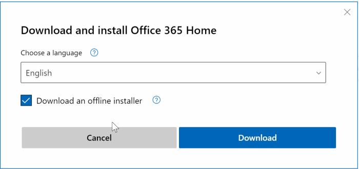Faça o download completo do instalador offline do Office 365 pic4