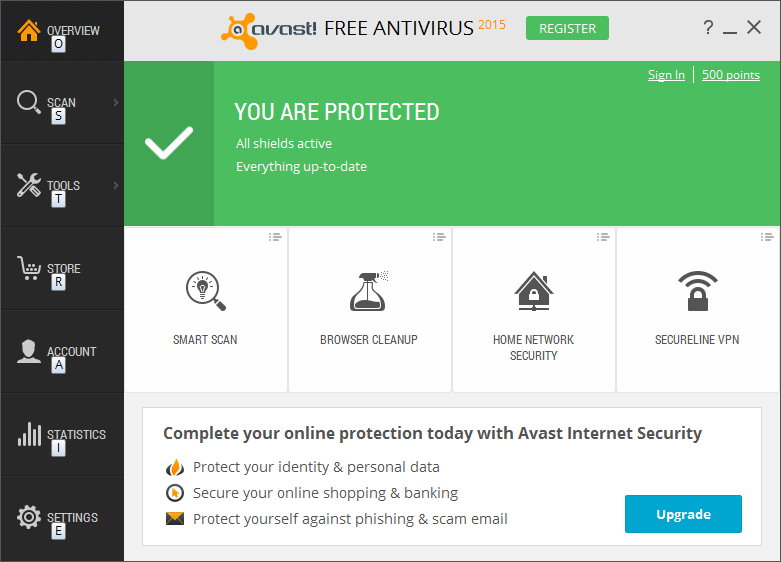 Antivírus gratuito do Avast